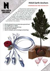 Hulk Earth Anchor Underground Tree Anchoring Brochure