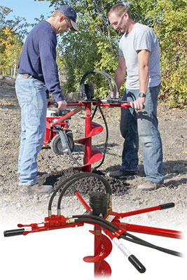 Little Beaver auger drill two man handle