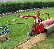 Kwik Trench trencher for irrigation and sprinkler installation