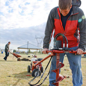 Little Beaver hydraulic earth auger drill